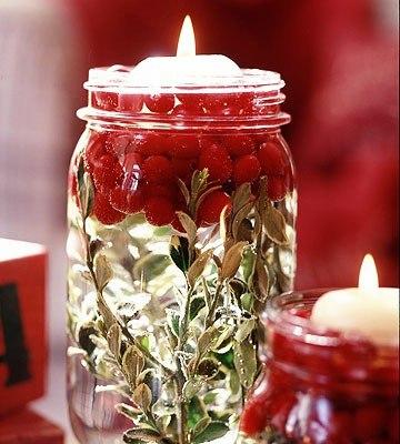 свечи плавающие с ягодами