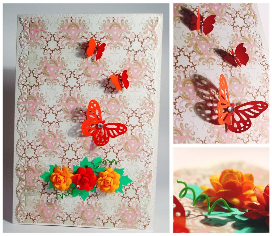 Хендмейд-открытки с цветами