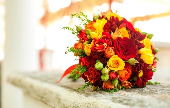 красные и желтые розы